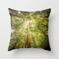 Forest Tree Tops Throw Pillow