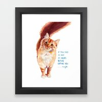 If You Died Framed Art Print