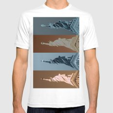 4Liberty SMALL White Mens Fitted Tee