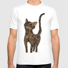 Giraffe Cat. White Mens Fitted Tee SMALL