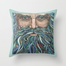 The Old man Ocean  Throw Pillow