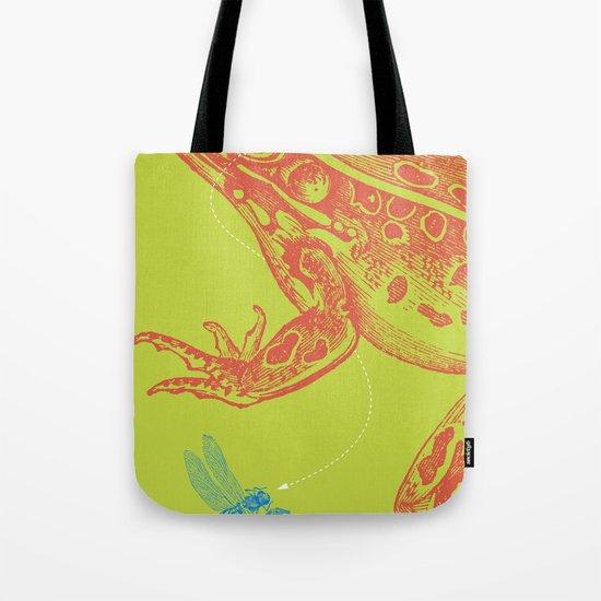 Frog vs. Dragonfly Tote Bag