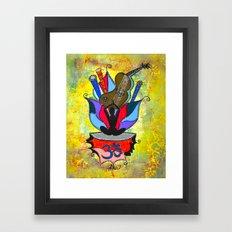 BLOOMING YOGA Framed Art Print