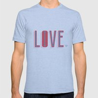Live & Love Mens Fitted Tee Athletic Blue SMALL
