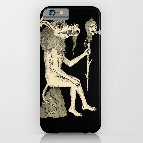 Creature Holding Sceptre iPhone & iPod Case
