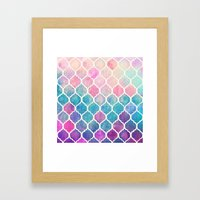 Rainbow Pastel Watercolo… Framed Art Print