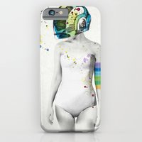 robot iPhone & iPod Cases featuring Robot Rock #2 by Jenny Liz Rome