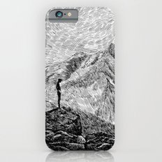 Child on the rock - Black ink iPhone 6 Slim Case