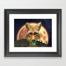 Arizona GQ Coyote Framed Art Print