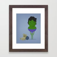 My angry hero! Framed Art Print