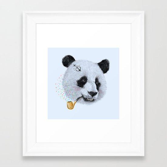 Panda Sailor Framed Art Print
