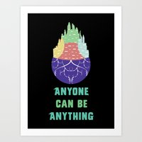 Zootopia - Anyone Can Be Anything [BLACK] Art Print