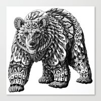 Ornate Bear Canvas Print