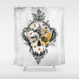 Shower Curtain - Skull Still Life - RIZA PEKER
