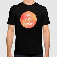 Live in the Sunshine Mens Fitted Tee Black SMALL
