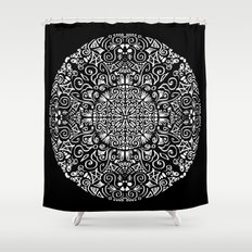 Doodle circle 1 Shower Curtain