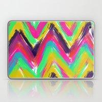 Bohemian multicolor oil paint chevron pattern Laptop & iPad Skin