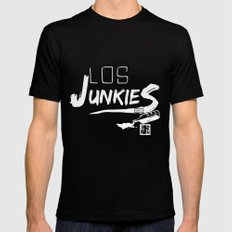 los junkies del barrio Mens Fitted Tee SMALL Black