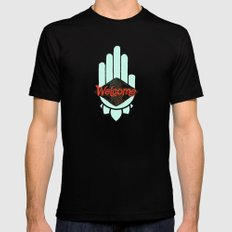 Welcome SMALL Mens Fitted Tee Black