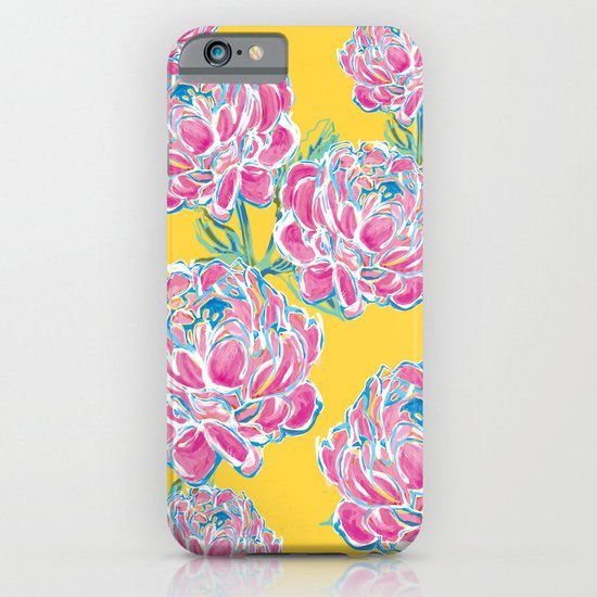 Peony : Yellow iPhone & iPod Case