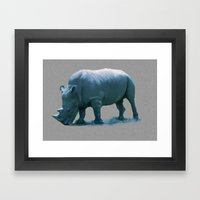 Blue Rhino Framed Art Print