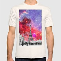 NEBULA VINTAGE PARIS Mens Fitted Tee Natural SMALL