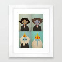 Minimalist Adventure Time Simon Petrikov/Ice King Framed Art Print