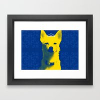 Fox Princess. Framed Art Print