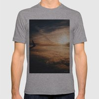 from the plane window Mens Fitted Tee Athletic Grey SMALL