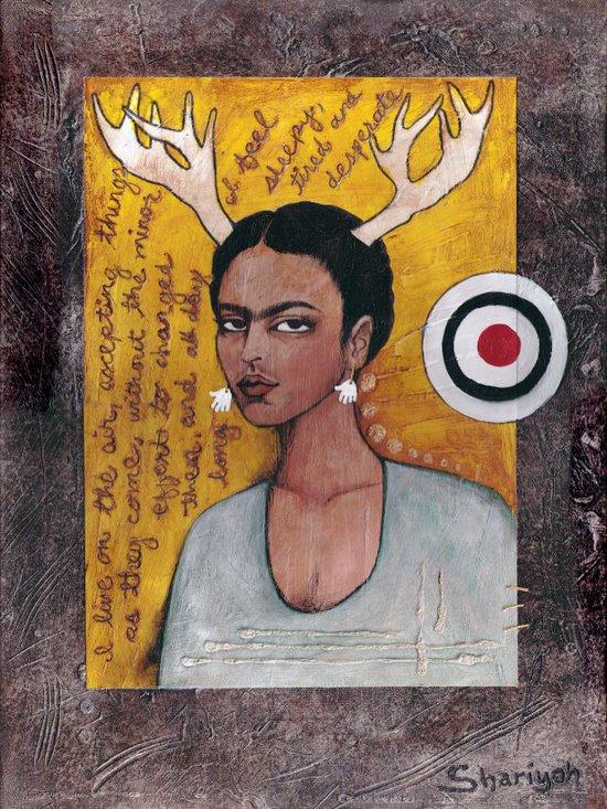 Frida's Diary Canvas Print