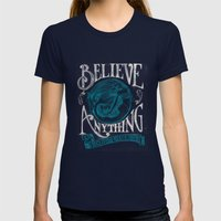 Believe Womens Fitted Tee Navy SMALL