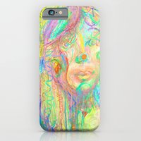 iPhone & iPod Case featuring Psychedelic Girl by Torao