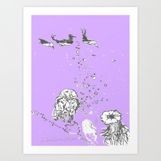 Two Tailed Duck And Jell… Art Print