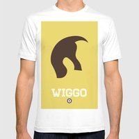 Wiggo Mens Fitted Tee White SMALL
