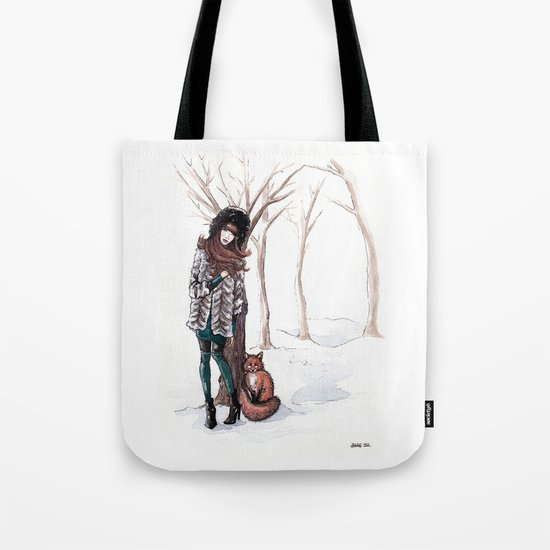 Woodland Frost Tote Bag
