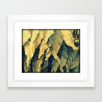 Tobacco leafs Framed Art Print