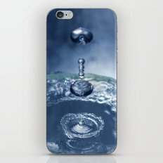 Liquid Play Blue iPhone & iPod Skin