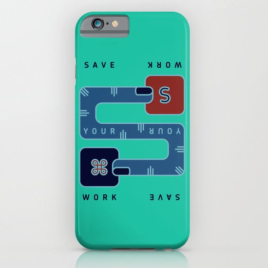 Save Your Work iPhone & iPod Case