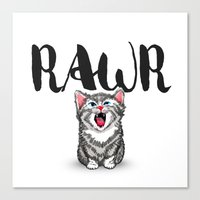 Little Pal, Big Roar Canvas Print