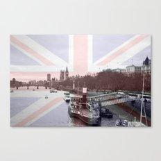 London Skyline and Union Jack Flag  Canvas Print