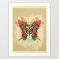 Butterfly Rorschach Art Print