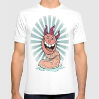 Tongue Creature Mens Fitted Tee White SMALL