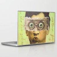 Laptop & iPad Skin featuring UNCLE CREEPY by Julia Lillard Art