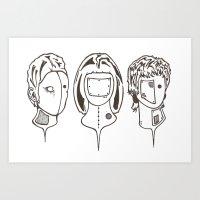 3heads Art Print