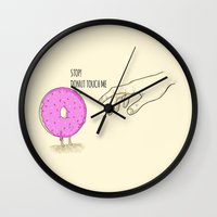 Donut Touch Me Wall Clock