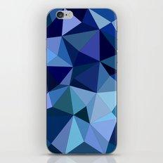 Blue triangles iPhone & iPod Skin