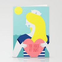 You Rock My Boat Stationery Cards