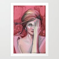 Strawberry Flirt Art Print