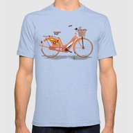 Love Holland, Love Bike Mens Fitted Tee Tri-Blue SMALL