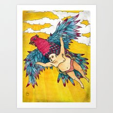 Lazy Tarzan - Flying Art Print